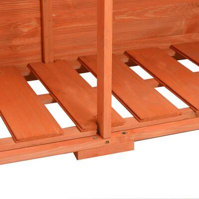 vidaXL Schowek ogrodowy, 120x50x91 cm, drewniany