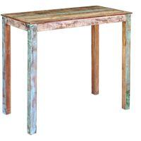 vidaXL Stolik barowy, lite drewno z odzysku, 115x60x107 cm