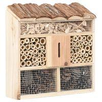vidaXL Domek dla owadów, 30x10x30 cm, drewno jodłowe