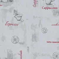vidaXL Fizelinowa tapeta, 4 rolki, biała, 0,53 x 10 m, motyw kawy