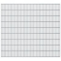 vidaXL Panele ogrodzeniowe 2D, 2,008 x 1,83 m, 10 m, szare