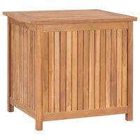 vidaXL Skrzynia ogrodowa, 60x50x58 cm, lite drewno tekowe