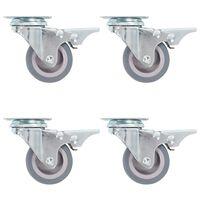vidaXL 24 skrętne kółka, 50 mm