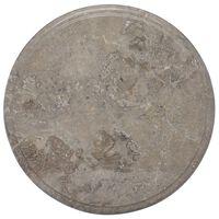 vidaXL Blat do stołu, szary, Ø40 x 2,5 cm, marmur