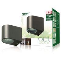Ranex Kinkiet LED, 3 W, szary, 5000.332