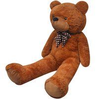 vidaXL Pluszowy miś przytulanka, brązowy, 242 cm