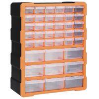 vidaXL Organizer z 39 szufladkami, 38x16x47 cm