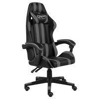vidaXL Fotel dla gracza, czarno-szary, sztuczna skóra