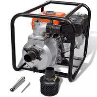 visaXL Spalinowa pompa wodna, przyłączenie 50 mm, 6,5 KM