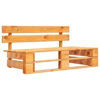 vidaXL Ogrodowa ławka z palet, drewno, miodowy brąz