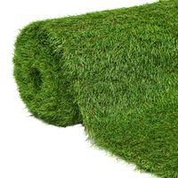 vidaXL Sztuczny trawnik, 1x10 m; 40 mm, zielony