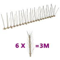 vidaXL Kolce przeciw ptakom, 5 rzędów, plastikowe, 6 szt., 3 m
