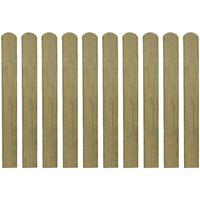 vidaXL 20 impregnowanych sztachet drewnianych, 80 cm