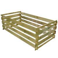 vidaXL Kompostownik, impregnowane drewno sosnowe, 160x80x58 cm