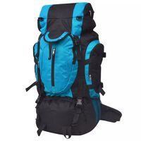 vidaXL Plecak turystyczny XXL, 75 L, czarno-niebieski