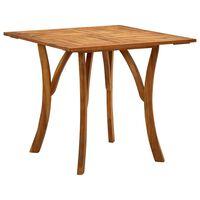 vidaXL Stół ogrodowy, 85x85x75 cm, lite drewno akacjowe