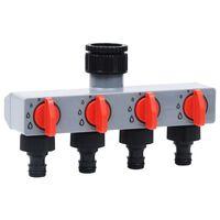 vidaXL Ogrodowy rozdzielacz wody z 4 zaworami