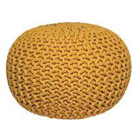LABEL51 Puf wydziergany z bawełny, M, żółty