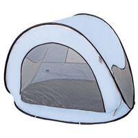 DERYAN Namiot plażowy typu pop-up z moskitierą, 120x90x80 cm, błękitny