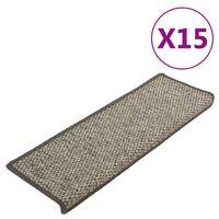 vidaXL Samoprzylepne nakładki na schody, 15 szt., 65x25 cm
