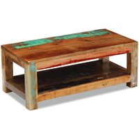 vidaXL Stolik kawowy, lite drewno odzyskane, 90x45x35 cm