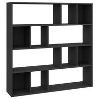 vidaXL Przegroda/regał na książki, czarny, 110x24x110cm, płyta wiórowa