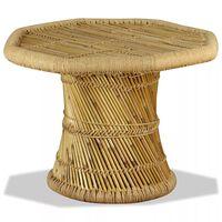 vidaXL Stolik kawowy Bambusowy Ośmiokąt, 60 x 60 x 45 cm