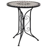 vidaXL Mozaikowy stolik bistro, szary, 61 cm, ceramiczny