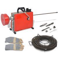 vidaXL Maszyna do czyszczenia rur, 250 W, 15 m x 16 mm 4,5 m x 9,5 mm