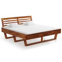 vidaXL Rama łóżka, lite drewno akacjowe, 180x200 cm