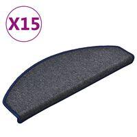 vidaXL Nakładki na schody, 15 szt., ciemnoszaro-niebieskie, 65x24x4 cm