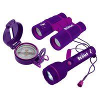 Scout 3-częściowy zestaw dla małego poszukiwacza przygód, fioletowy