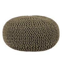 LABEL51 Puf wydziergany z bawełny, L, kolor wojskowy