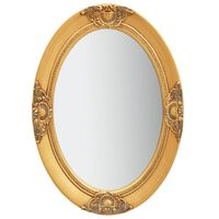 vidaXL Lustro ścienne w stylu barokowym, 50x70 cm, złote