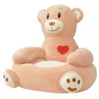vidaXL Fotel dla dzieci miś, pluszowy, brązowy