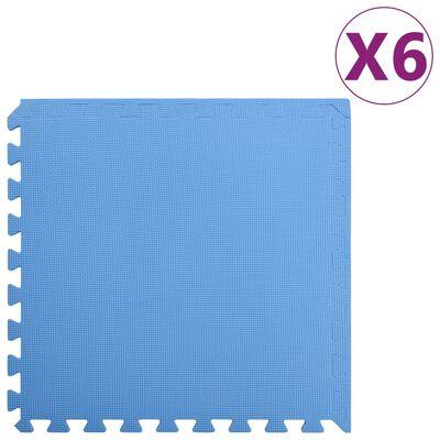 vidaXL Maty podłogowe, 6 szt., 2,16 ㎡, pianka EVA, niebieskie