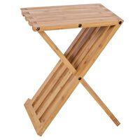Bo-Camp Składany stolik turystyczny Lambeth, 28x33x42 cm, bambusowy