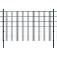 vidaXL 2D Panele ogrodzeniowe z słupkami 2008x1230 mm 20 m Szare