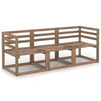 vidaXL 3-cz. zestaw mebli ogrodowych z palet, brązowe drewno sosnowe