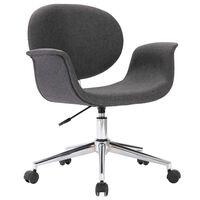 vidaXL Krzesło biurowe, obrotowe, szara, tkanina