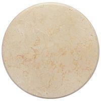 vidaXL Blat do stołu, kremowy, Ø50 x 2,5 cm, marmur