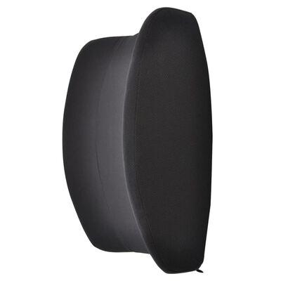 DESQ Poduszka podpierająca plecy, kształt skrzydeł, czarna