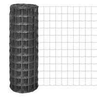 vidaXL Euro ogrodzenie, stalowe, 25 x 1 m, szare