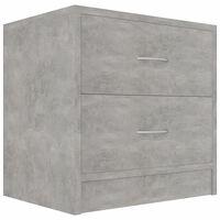 vidaXL Szafka nocna, kolor szary betonowy, 40x30x40 cm, płyta wiórowa