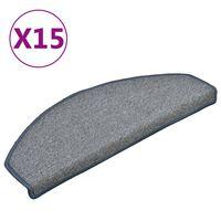 vidaXL Nakładki na schody, 15 szt., jasnoszaro- niebieskie, 65x24x4 cm