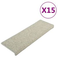 vidaXL Samoprzylepne nakładki na schody, 15 szt., 65x25 cm, szare