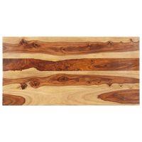 vidaXL Blat stołu, lite drewno sheesham, 25-27 mm, 60x100 cm