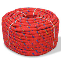 vidaXL Linka żeglarska z polipropylenu, 12 mm, 250 m, czerwona