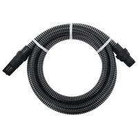 vidaXL Wąż ssący ze złączami z PVC, 10 m, 22 mm, czarny