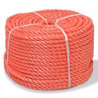 vidaXL Skręcana linka z polipropylenu, 12 mm, 100 m, pomarańczowa